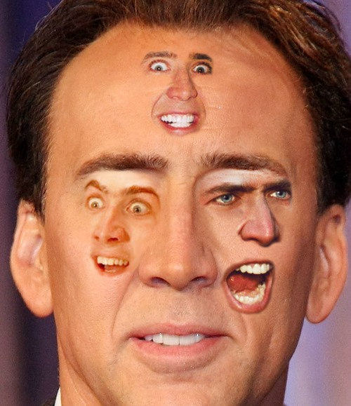 Many faces of Nicolas Cage